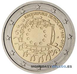 Moneda-2-€-Alemania-2015-Bandera