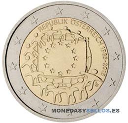 Moneda-2-€-Austria-2015-Bandera