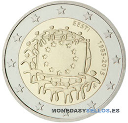 Moneda-2-€-Estonia-2015Bandera
