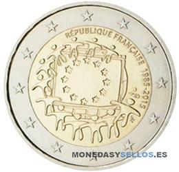 Moneda-2-€-Francia-2015-Bandera
