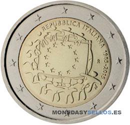 Moneda-2-€-Italia-2015-Bandera