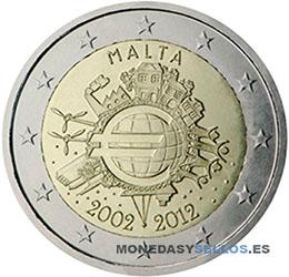 Moneda-2-€-Malta-2012X