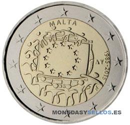 Moneda-2-€-Malta-2015-Bandera