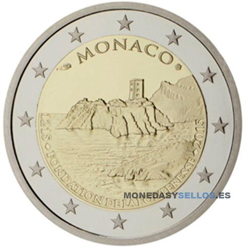 2 euros conmemorativos monaco 2015 monedas y sellos online. Black Bedroom Furniture Sets. Home Design Ideas
