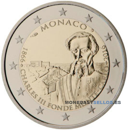 Moneda 2 € Monaco 2016
