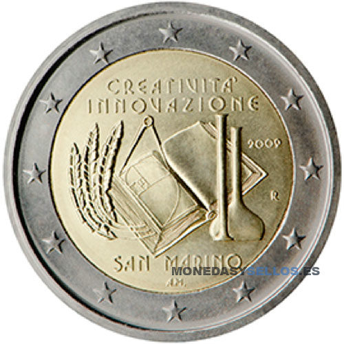 Moneda 2 € San Marino 2009