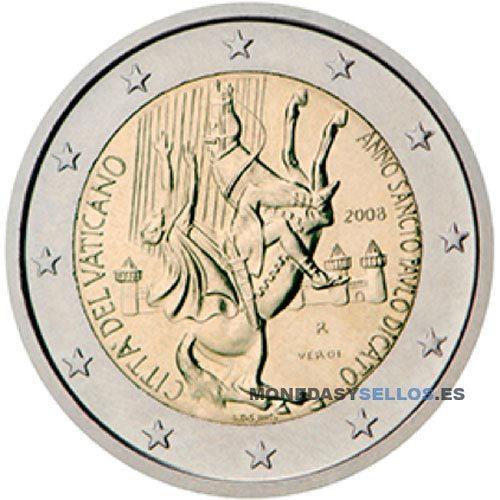 Moneda 2 € Vaticano 2008
