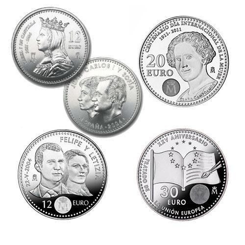 Monedas Conmemorativas 12-20-30 Euros