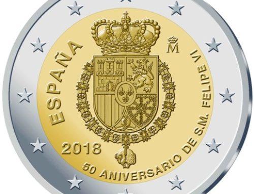 Monedas de 2 euros para conmemorar el próximo cumpleaños del Rey Felipe VI
