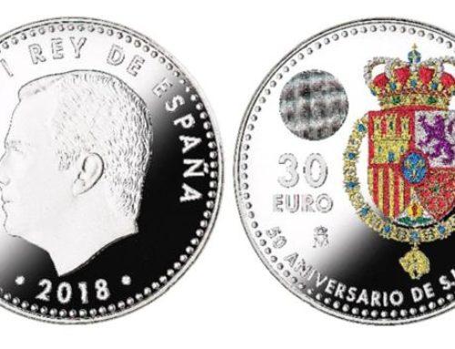 Una moneda de 30 euros para conmemorar el 50 cumpleaños de Felipe VI